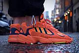 Стильні кросівки Adidas yung 1 hi res orange, фото 3