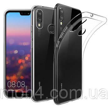 Силиконовый прозрачный чехол для Huawei (Хуавей) P20 Lite