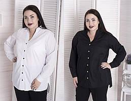 Стильная женская рубашка в деловом стиле с 48 по 82 размер