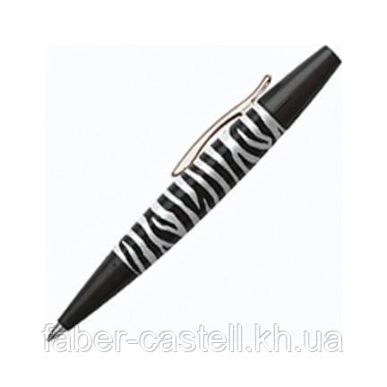 Ручка шариковая Faber-Castell E-motion, корпус зебра, 148312