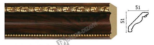 Карниз(плинтус) потолочный Арт-Багет 155 -1084,интерьерный декор.