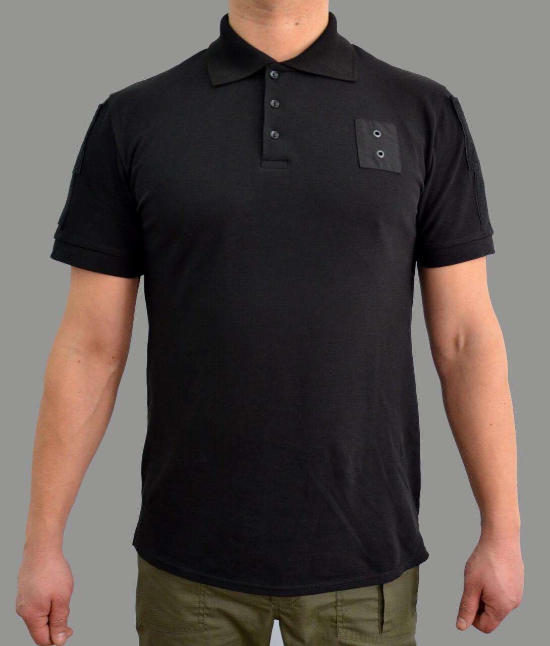 Форменная футболка поло черная для полиции