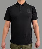 Форменная футболка поло черная для полиции, фото 1