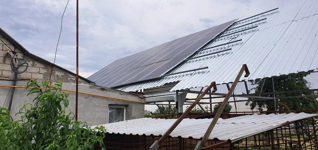 """Кулебовка солнечная электростанция под """"зеленый"""" тариф мощностью 10 кВт Amerisolar + Huawei Днепропетровская область"""