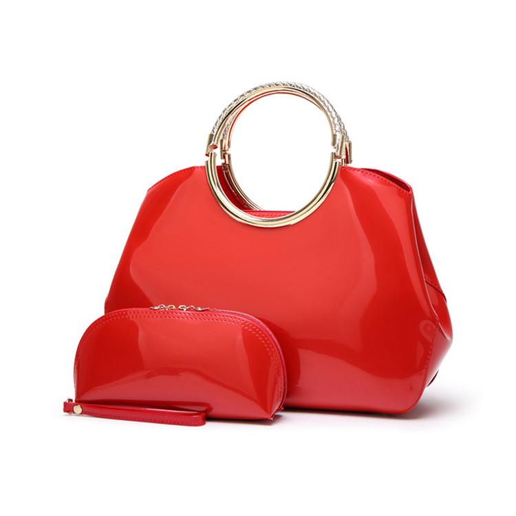 Женская Сумка Стильная Лаковая (L-16268) Красная