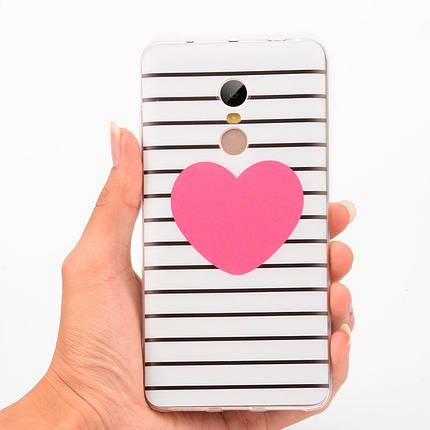 """Панель накладка Прозрачная TPU Case для Apple iPhone 7/8с принтом """"Сердце"""", фото 2"""