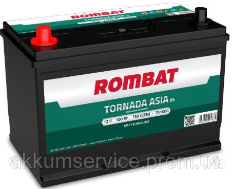 Аккумулятор автомобильный ROMBAT TORNADA Asia 100AH R+ 750A (TA100)