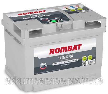 Аккумулятор автомобильный ROMBAT TUNDRA 60AH L+ 580A (EB260G)