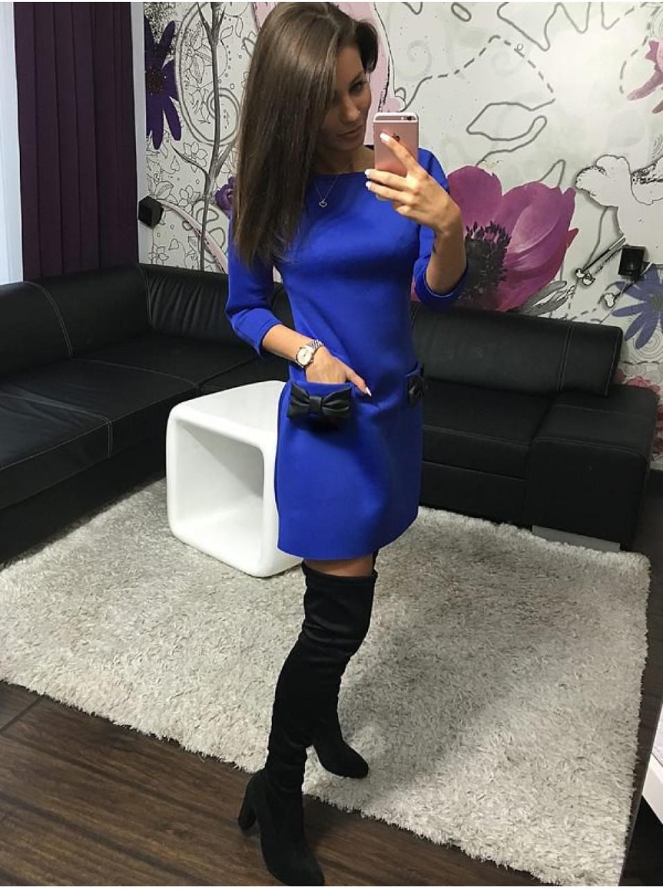 Платье из французского трикотажа «Бантики»