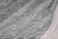 Ткань Ангора софт трикотажная, цвет серый меланж светлый, пог. м. , фото 1
