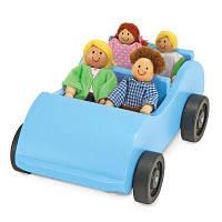 Развивающая игрушка Melissa&Doug Дорожная машинка с куклами (MD2463)