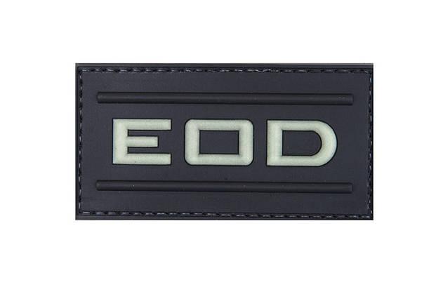 Нашивка 3D – EOD - świecąca w ciemności [GFC Tactical] (для страйкбола), фото 2