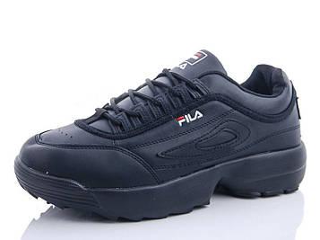 Кроссовки Фила со значком черные
