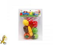 Продукты 666-113AB (84шт) на липучке, овощи/фрукты 8шт, досточка, нож, в кульке, 19-29-6см