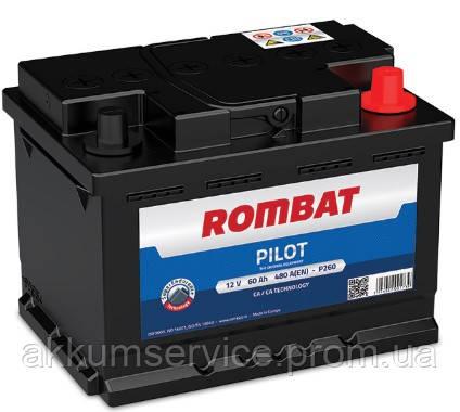 Аккумулятор автомобильный ROMBAT PILOT 60AH R+ 580A (P260)