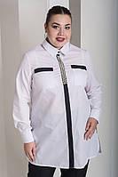 Стильная женская классическая рубашка белого цвета с 48 по 82 размер