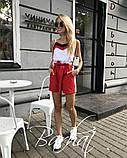 Модный летний костюм с шортами,ткань софт,размеры:42,44,46,48., фото 5