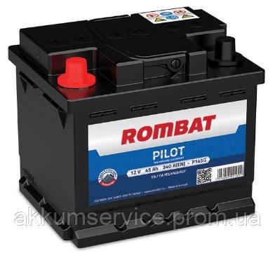 Аккумулятор автомобильный ROMBAT PILOT 45AH L+ 380A (P145G)