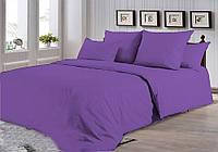 Фиолетовое постельное белье Семейный с простыней на резинке