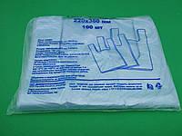 Пакеты майка без рисунка №22*36 ДПА синяя(100шт) (1 пач), фото 1