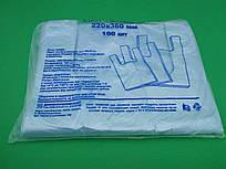 Пакеты майка без рисунка №22*36 ДПА синяя(100шт) (1 пач)
