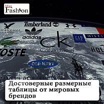 Достоверные размерные таблицы от мировых брендов