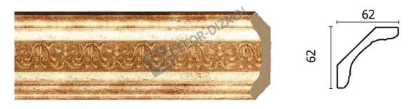 Карниз(плінтус) стельовий Арт-Багет 168-126,інтер'єрний декор.