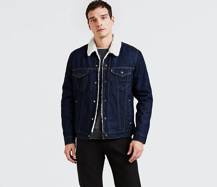 Зимняя джинсовая куртка Levis Trucker -   Rockdige