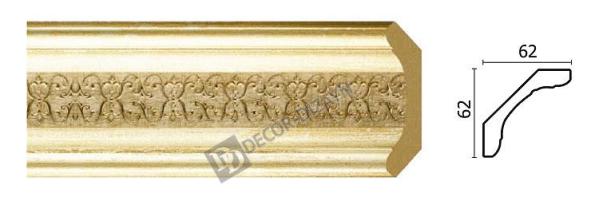 Карниз(плінтус) стельовий Арт-Багет 168-281,інтер'єрний декор.