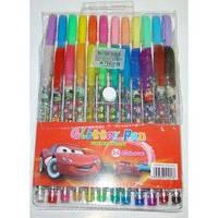 Гелевые ручки 24 цвета Тачки в блистере L0312-24-0119 (с блестками и запахом)