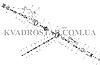 Усиленная полуось INTERPARTS AB8-CA-8-215 для квадроцикла BRP CAN-AM OUTLANDER / RENEGADE G2 передняя правая 0, фото 2