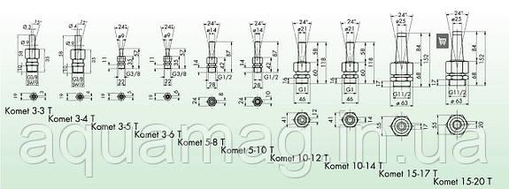 Фонтанная насадка Oase Komet 3-6T, фото 3