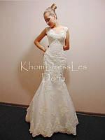 Свадебное кружевное платье-русалка со шлейфом  в Украине
