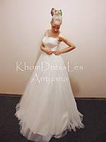 Свадебное платье пышное с повышеной талией с евросетки