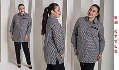 Модная женская рубашка на змейке большого размера  с 48 по 82 размер, фото 2