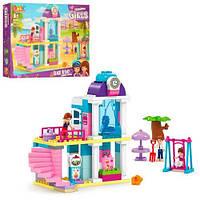 Конструктор для малышей с крупными деталями Дом с качелями JDLT 5413, фигурки, 85дет