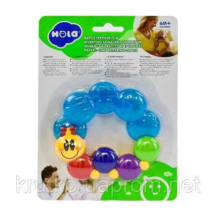 Прорезыватель для зубов Hola Toys Гусеничка (306D), фото 2