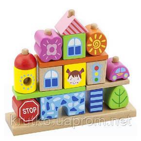 """Набор кубиков Viga Toys """"Город"""" (50043), фото 2"""