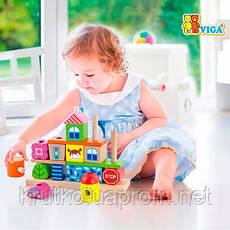 """Набор кубиков Viga Toys """"Город"""" (50043), фото 3"""