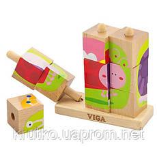 """Пазл-пирамидка Viga Toys """"Насекомые"""" (50158), фото 3"""