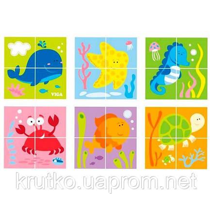 """Пазл-кубики Viga Toys """"Подводный мир"""" (50161), фото 2"""