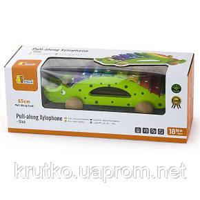 "Игрушка-каталка Viga Toys ""Крокодил"" (50342), фото 2"