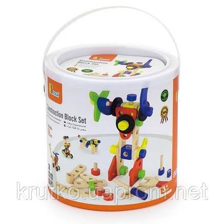 Набор строительных блоков Viga Toys 68 деталей (50382), фото 2