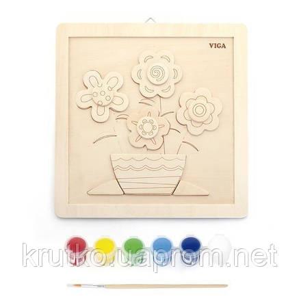 """Набор для творчества  Viga Toys """"Своими руками. Цветы"""" (50685), фото 2"""