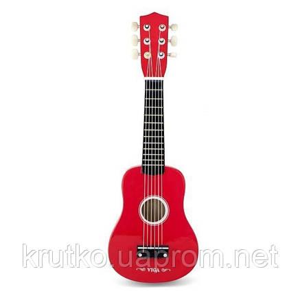 """Игрушка Viga Toys """"Гитара"""", красный (50691), фото 2"""