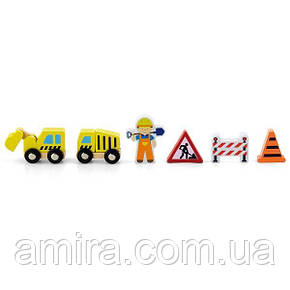 "Доп. набор к ж/д Viga Toys ""Строители"" (50813), фото 2"