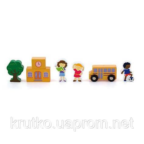 "Доп. набор к ж/д Viga Toys ""Школа"" (50816), фото 2"