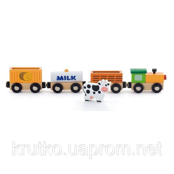 "Доп. набор к ж/д Viga Toys ""Поезд-ферма"" (50821)"