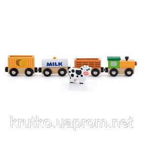 "Доп. набор к ж/д Viga Toys ""Поезд-ферма"" (50821), фото 2"