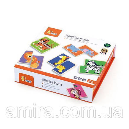 """Пазл Viga Toys """"Дикие животные"""" (50842), фото 2"""